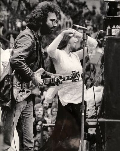 Roberto Rabanne, 'Jerry Garcia plays Guitar named Wolf with female dancer', Golden Gate Park, San Francisco, September 28, 1975
