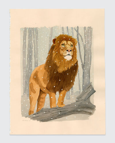 Sean Landers, 'Lion in Winter 3', 2020