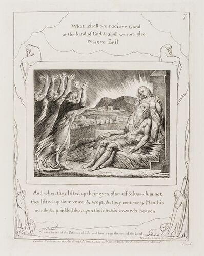 William Blake, 'Job's Comforters, pl. 7 from 'Illustrations of the Book of Job'', 1825