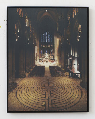 Laurence Aëgerter, 'Cathédrales Hermétiques – vitraux Cathedral of Our Lady of Chartres II, 13th century', 2016
