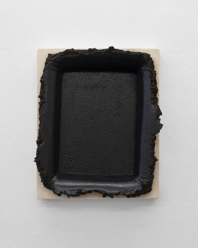 Andrew Dadson, 'Black Restretch with Soil', 2018