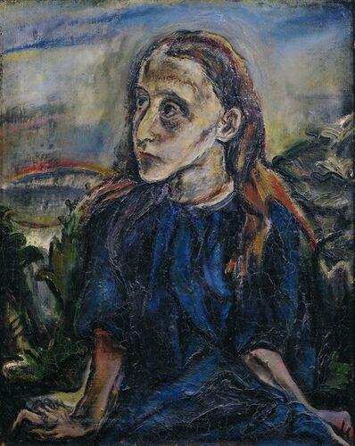 Oskar Kokoschka, 'Portrait of a Girl', ca. 1913