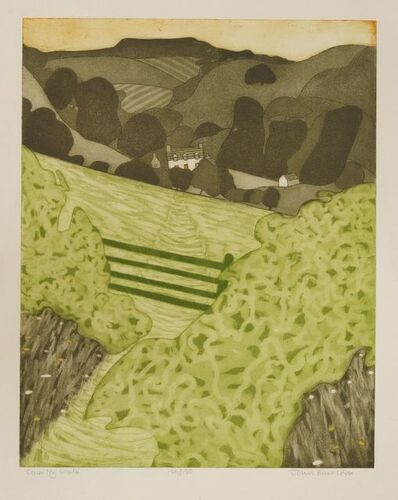 John Brunsdon, 'Country Walk; Golden Cap', 1977