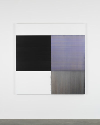 Callum Innes, 'Exposed Painting Blue Violet', 2019