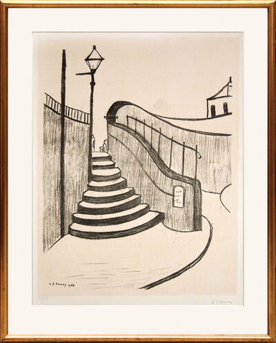 L.S. Lowry, 'The Old Steps, Stockport.', 1960