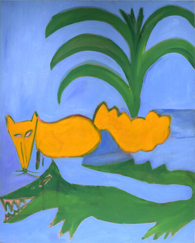 Elizabeth Enders, 'Fox and Alligator', 1985