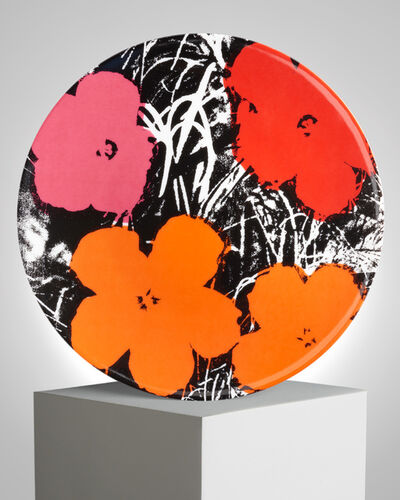 """Andy Warhol, '""""Flowers"""" Porcelain Plate', ca. 2019"""