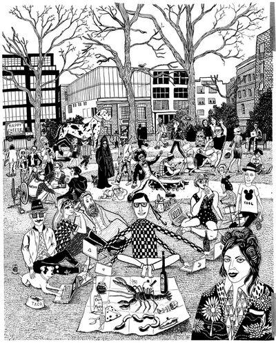 Le Gun, 'Hoxton Square', 2014