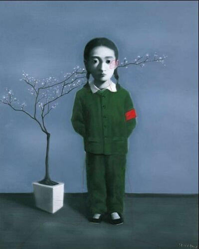 Zhang Xiaogang, 'Girl and Tree', 2009