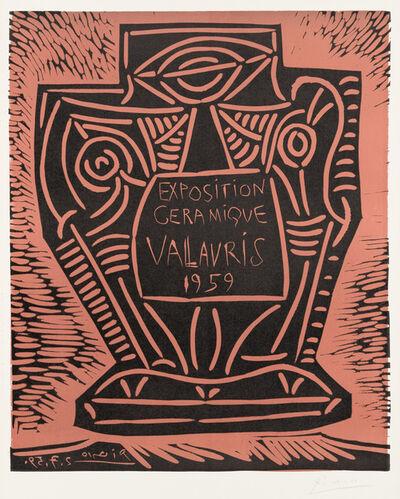 Pablo Picasso, 'Exposition Céramique Vallauris', July 2-1959