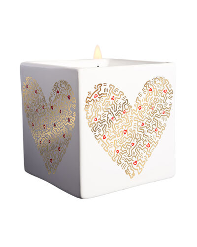 Keith Haring, 'Gold Pattern Heart Square Perfumed Candle ', 2018