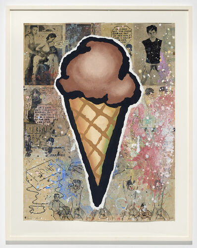 Donald Baechler, 'Brown Cone', 2010