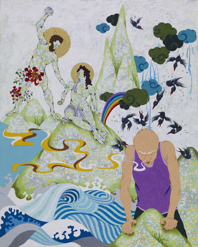 Chien-Chiang Hua, 'Stone and Scarf', 2010