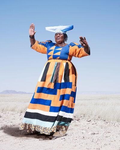 Jim Naughten, 'Herero Woman in Orange Dress', 2012