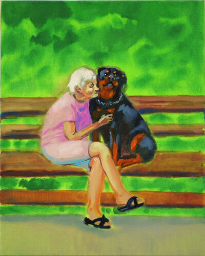 Izabella Volovnik, 'Old Lady with a Rottweiler', 2019