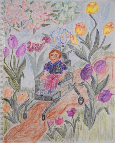 Louise Kavadlo, 'Boy in Wheelchair in Garden', 1993