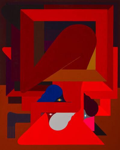 Richard Colman, '(Red), Figure, Three Heads', 2018