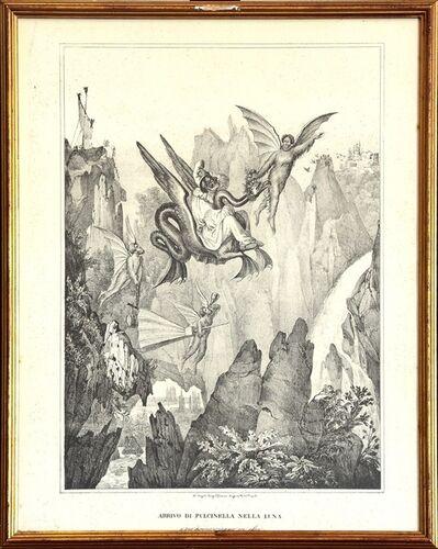 Gaetano Dura, 'Arrival Of Pulcinella On The Moon ', 20th Century
