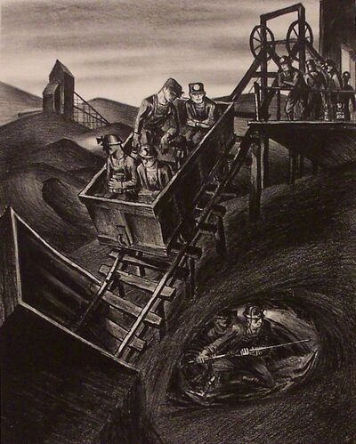 harry sternberg, 'Slope Mine', 1937