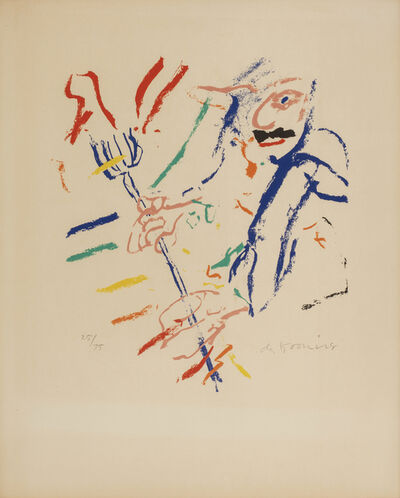 Willem de Kooning, 'Devil at the keyboard (Thelonius Monk)', 1976