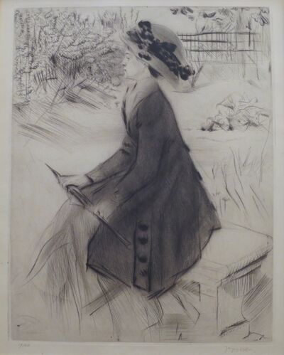 Jacques Villon, 'Le Banc de pierre (Au Jardin)', 1908