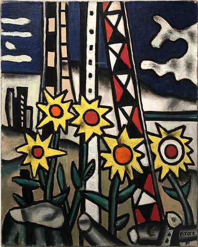 Fernand Léger, 'Cinq Tournesois dans le Paysage (Five Sunflowers in the Landscape)', 1951