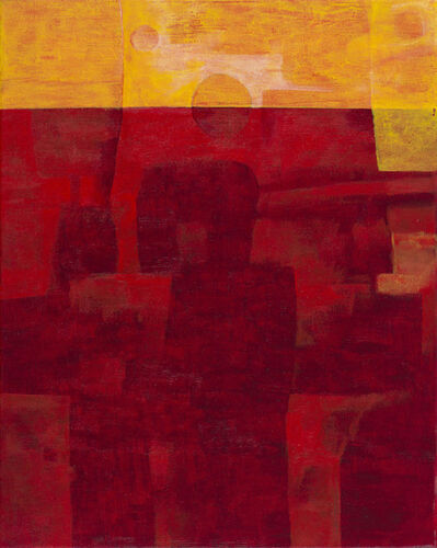 Ibrahim El-Salahi, 'Figure in Red', 2007