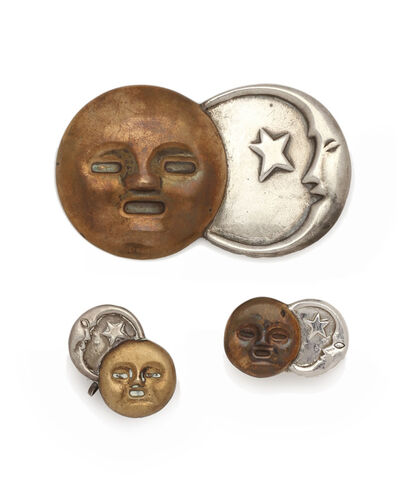 William Spratling, 'A set of William Spratling sun and moon mixed-metal jewelry', 1940-1946