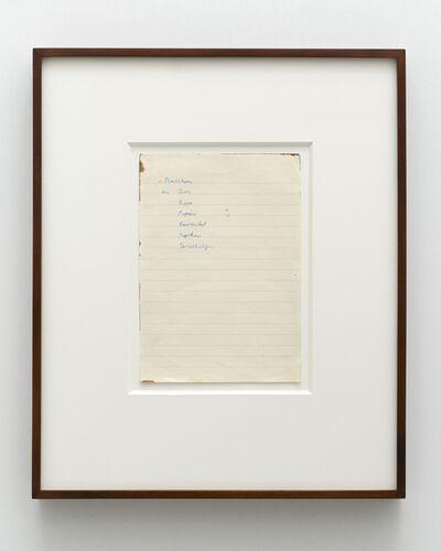 Sigmar Polke, 'Untitled (Plastiken aus Stroh, Pappe, Papier, Bierdeckel, Korken, Streichhölzer)', ca. 1969