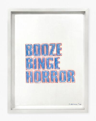 Sarah Morris, 'Booze Binge Horror', 1996