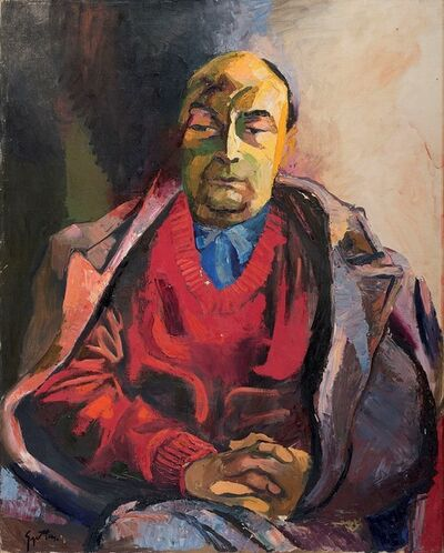 Renato Guttuso, 'Portrait of Pablo Neruda', 1968