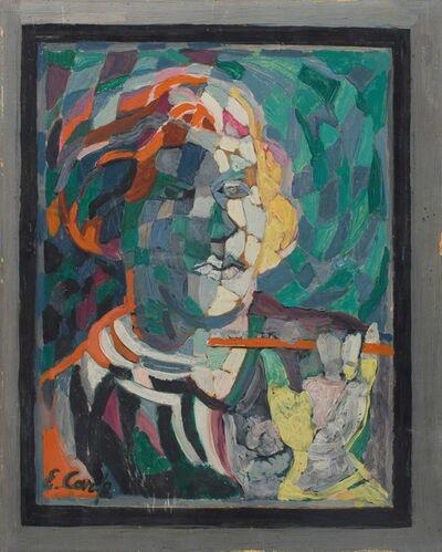 Esther Carp, 'Portrait d'homme au fume-cigarette'