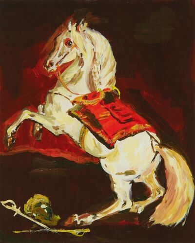 Karen Kilimnik, 'the sparkly splendid Lippazanner at the battle of austerlitz', 2008