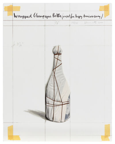 Christo and Jeanne-Claude, 'Wrapped Champagne Bottle Project for Happy Anniversary', 2000