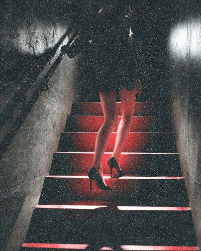 David Drebin, 'Girl on the red steps', 2021