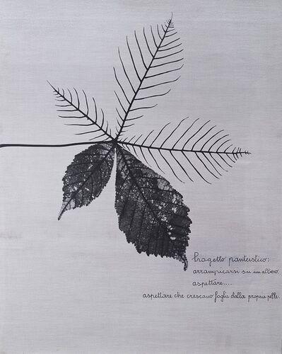 Vincenzo Agnetti, 'Progetto panteistico', 1972