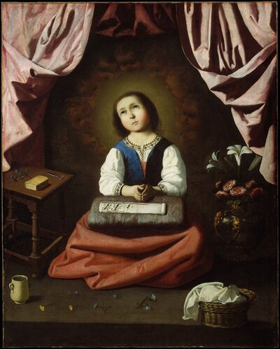 Francisco de Zurbarán, 'The Young Virgin', ca. 1632–1633