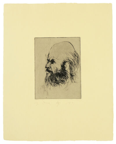 Jim Dine, 'Self Portrait from 'Self Portraits' portfolio', 1972