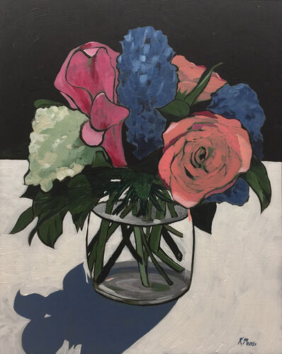 Kevin Morris, 'Flowers on Black', 2017