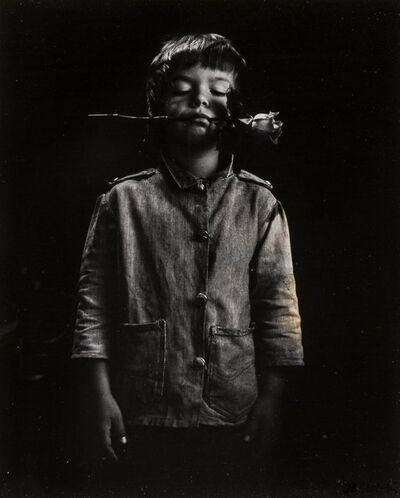 Jan Saudek, 'Boy with Rose', circa 1960s