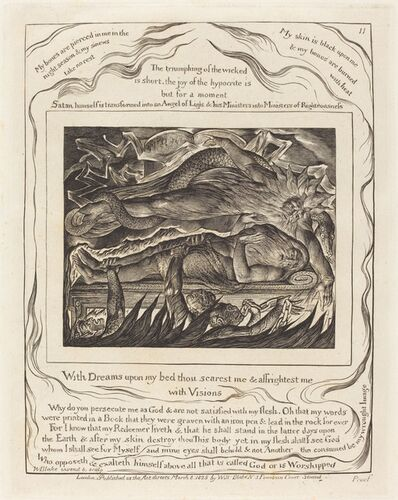 William Blake (1757-1827), 'Job's Evil Dreams', 1825