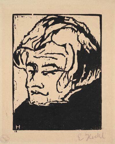 Erich Heckel, 'Kopf des Geigers', 1907