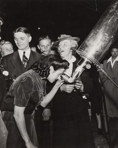 Weegee, 'A Trip to Mars, Times Square, New York', circa 1943-printed later