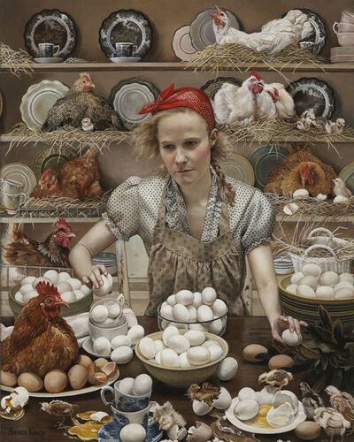 Andrea Kowch, 'Pecking Order-Limited Edition Signed Print', 2014