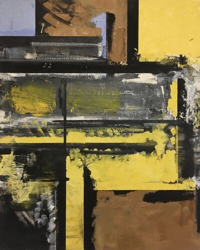 Haynes Ownby, 'Blue and Yellow Composition', ca. 1954