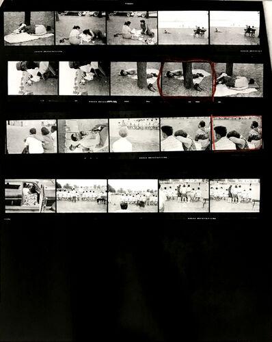 Robert Frank, 'Contact Sheet #73 (Public Park. Cleveland, Ohio)', 2009