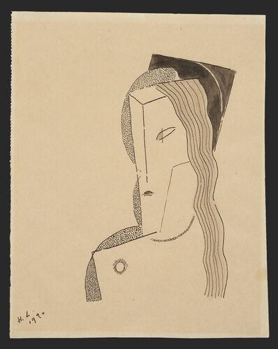 Henri Laurens, 'Buste de femme au collier de perles', 1920
