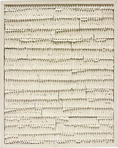 Jan Schoonhoven, 'Modulated ridges', 1965