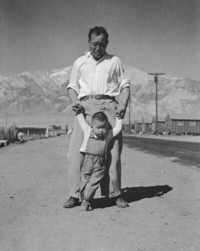 Dorothea Lange, 'Learning to Walk, Manzanar', 1942