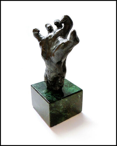 Auguste Rodin, 'Auguste Rodin Clenched Hand Bronze Sculpture Signed Gantz Foundry Authentic Art', ca. 1906